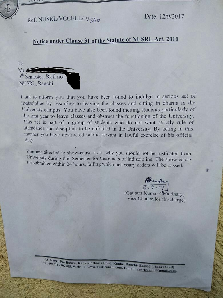 NUSRL students resume protest amidst presence of security forces on campus