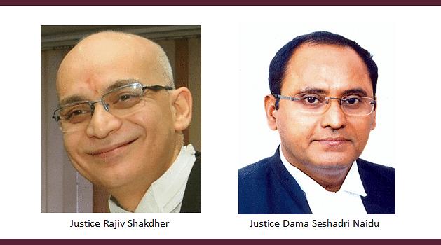 Collegium to transfer Rajiv Shakdher, D Seshadri Naidu JJ. to their parent High Courts