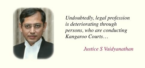 Justice S Vaidyanathan, Madras High Court