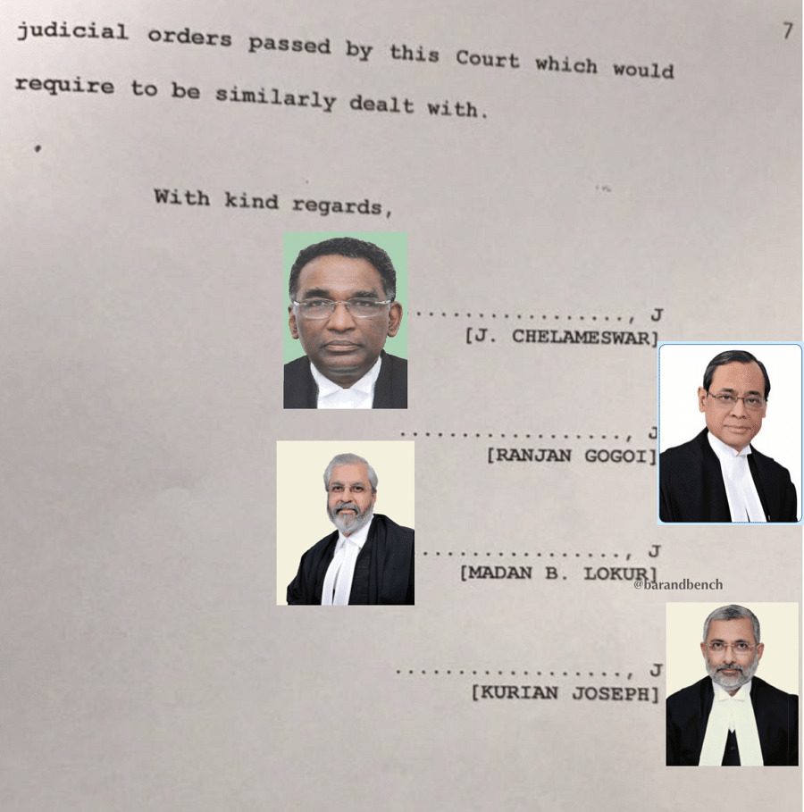 #JudgesConference: Read the letter written by four senior most judges to CJI Misra