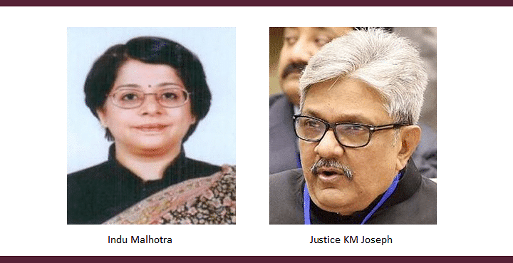 Collegium recommends Indu Malhotra, KM Joseph J. for appointment to Supreme Court