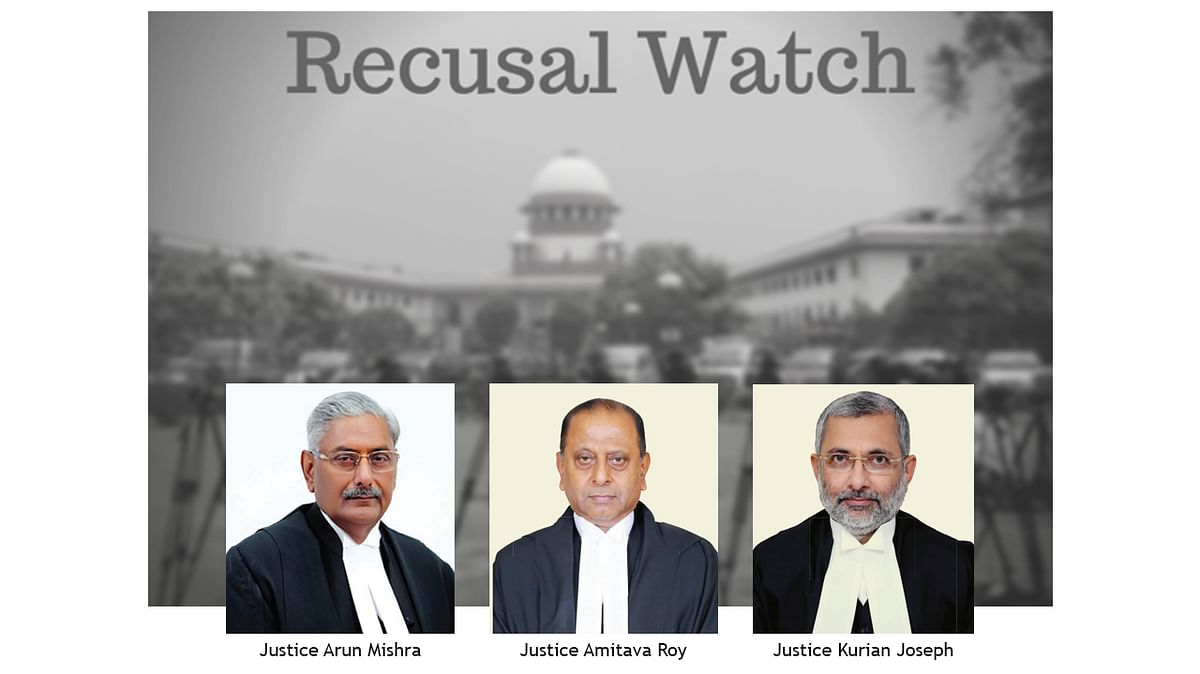 Recusal Watch: Of Changing Benches and Shifting stances