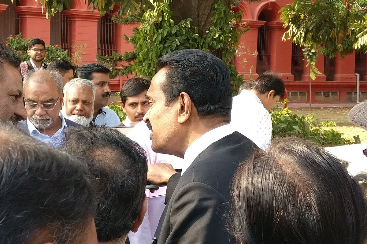 Senior Advocate CV Nagesh after the hearing