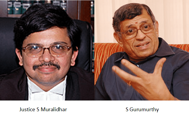 Delhi HC notice to S Gurumurthy in contempt plea by DHCBA for tweets against Muralidhar J.