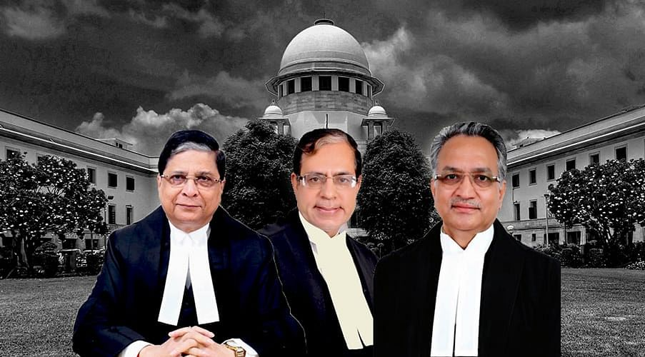 [L-R]: Chief Justice Dipak Misra, Justice AK Sikri, Justice AM Khanwilkar