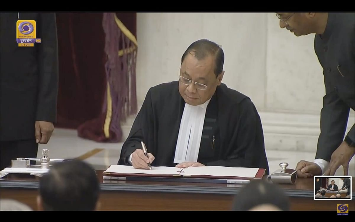 JusticeRanjan Gogoisworn in as 46thChief Justice of India, first fromNorth-East