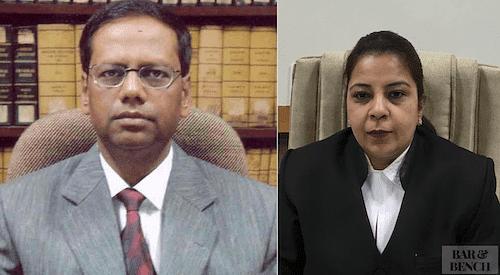 <em>Justice Ranjit More (Left) and Justice Bharati Dangre (Right)</em>