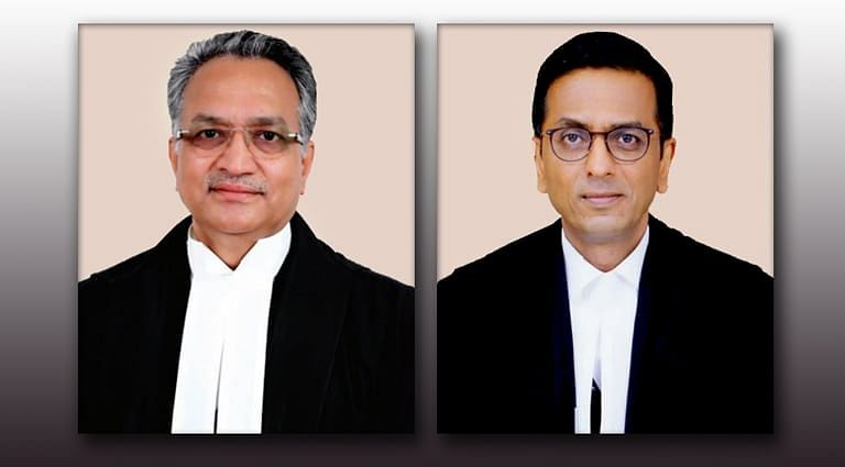 A Bench comprising of Justice Khanwilkar (<em>Left</em>) and Justice Chandrachud(<em>Right</em>)  passed this Judgment