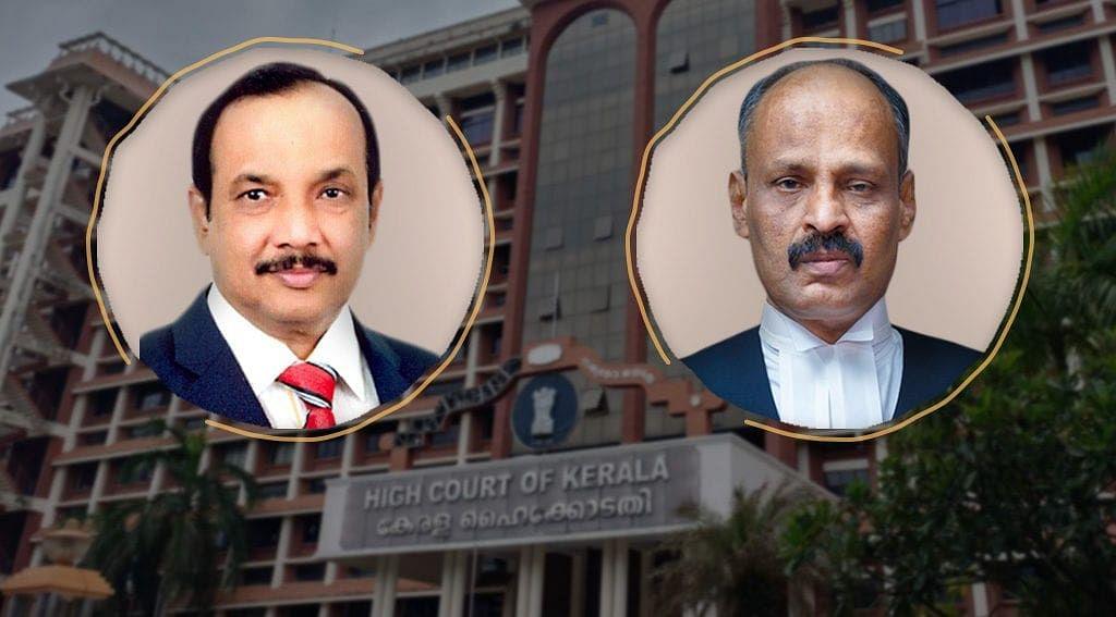 Justice CK Abdul Rehim (Left) and Justice R Narayana Pisharadi (Right)