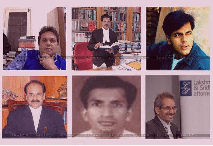 (Top Row L-R): TS Amarkumar, Hashmath Pasha, Nagaprasanna Mahesh, (Bottom Row L-R): RV Prasad, Sandeep Chouta, G Shivadass