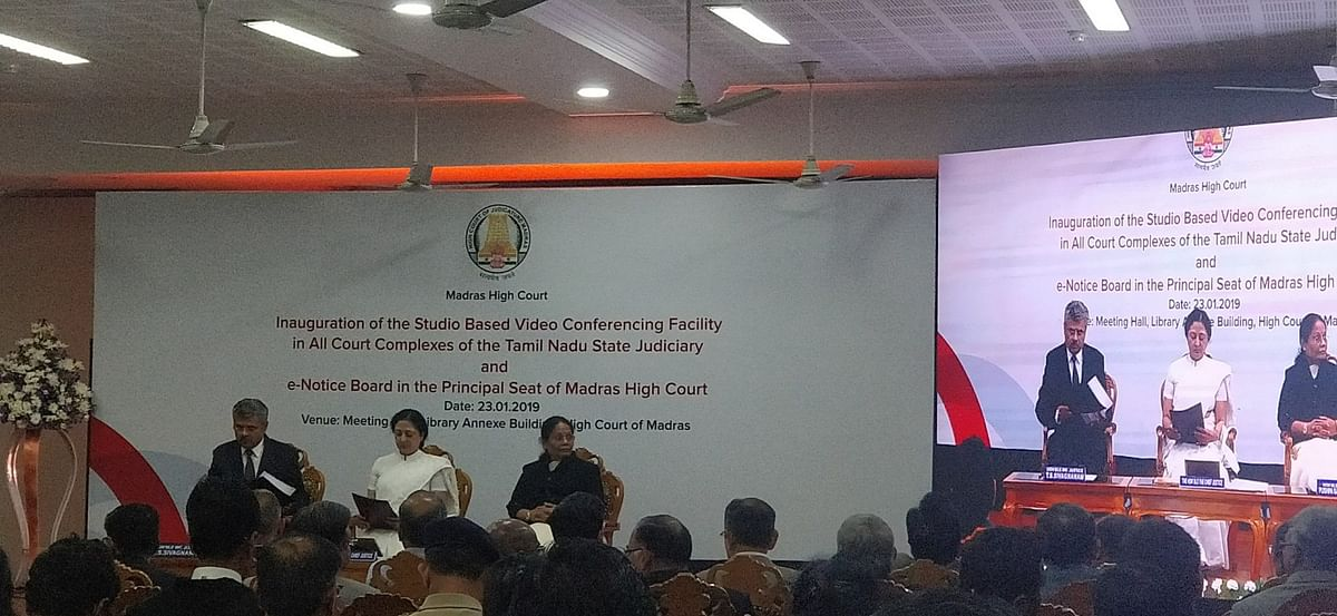 E-Notice Board, Video Conference facility for courts in Tamil Nadu launched at Madras HC