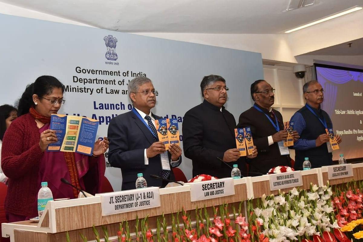 Law Minister Ravi Shankar Prasad launches legal services mobile apps