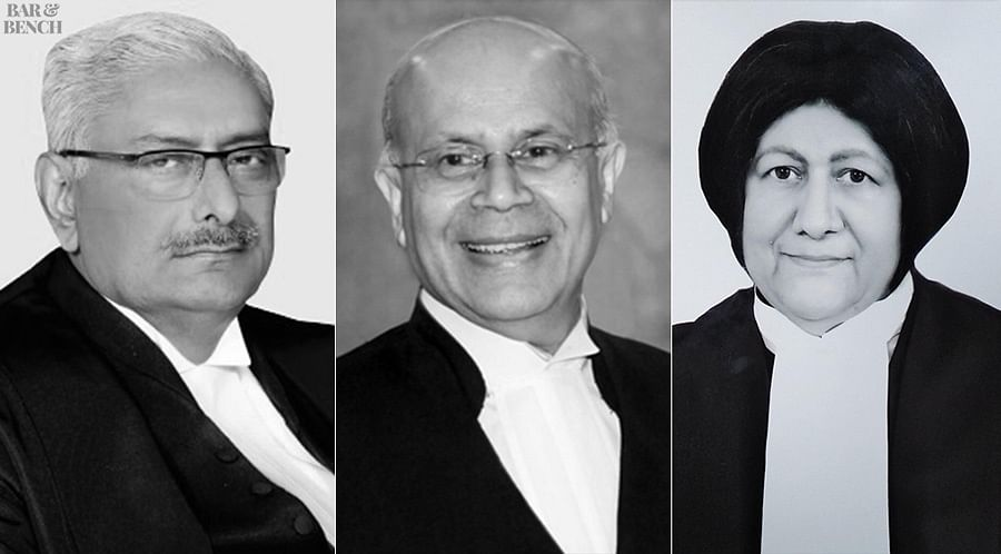 Justices Arun Mishra, Navin Sinha and Indira Banerjee (From L to R)