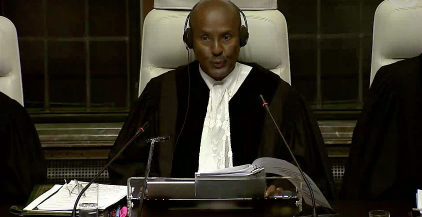 ICJ President Abdulqawi Ahmed Yusuf declares that oral proceedings are closed