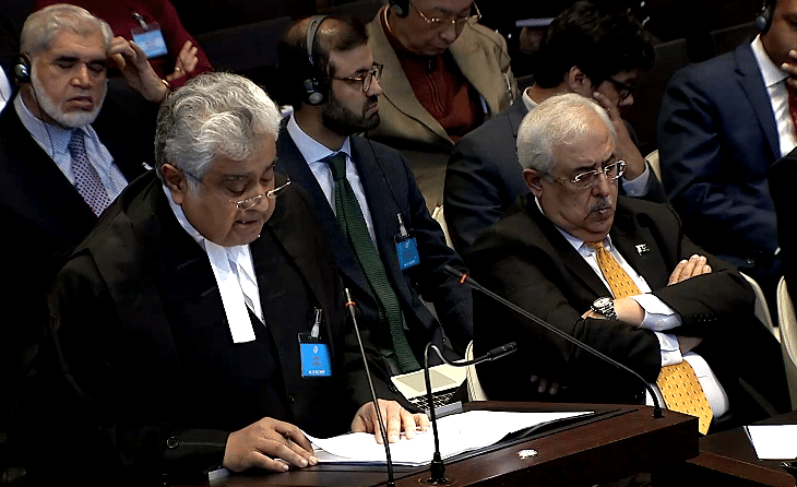 Harish Salve making arguments for India before the International Court of Justice (ICJ) in the Kulbhushan Jadhav case