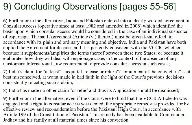 Pakistan's concluding submissions Part II