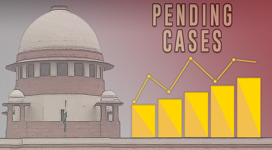 Pending cases in Supreme Court: 58,029 total, 7 cases of 9-Judge Bench