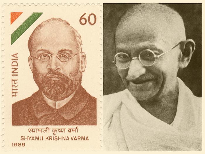 Shyamaji Krishna Varma and Mahatma Gandhi