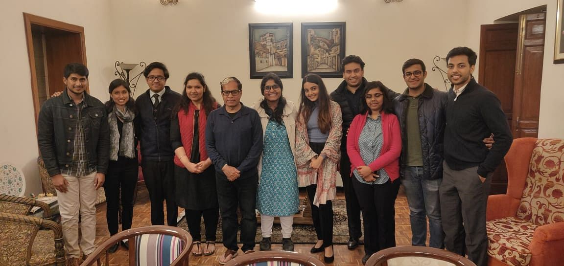 Justice AK Sikri with his clerks and research assistants