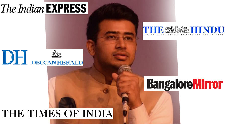 Bangalore court gags media houses, social media in defamation case filed by Tejasvi Surya