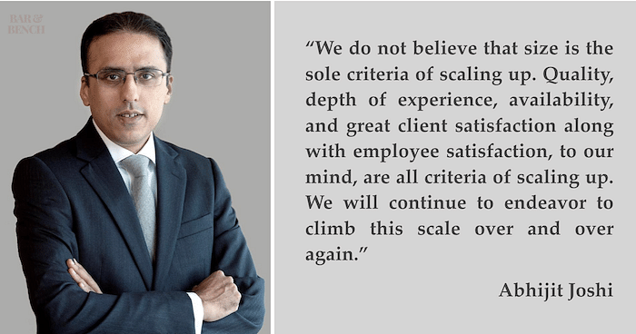 "Interviews: ""We would like to go deeper as opposed to wider"", Abhijit Joshi on four years of Veritas Legal"