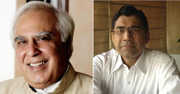 Senior Advocates Kapil Sibal (Left) and Arvind Datar