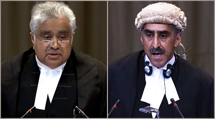 Harish Salve represented India, while Khawar Qureshi argued for Pakistan before the ICJ