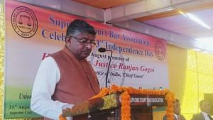 Minister of Law and Justice Ravi Shankar Prasad