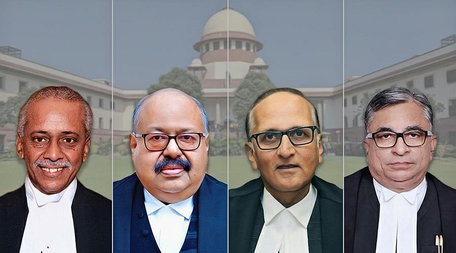 Supreme Court now has 34 judges; Justices V Ramasubramanian, Krishna Murari, S Ravindra Bhat, Hrishikesh Roy sworn-in