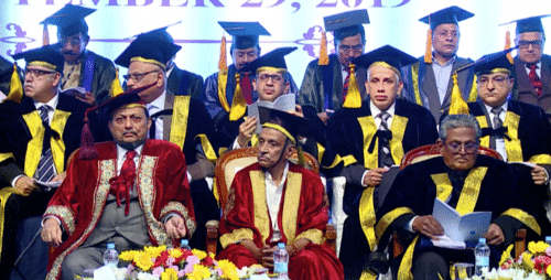 Prof Madhava Menon, Ram Jethmalani honoured at XVII NLSIU Convocation
