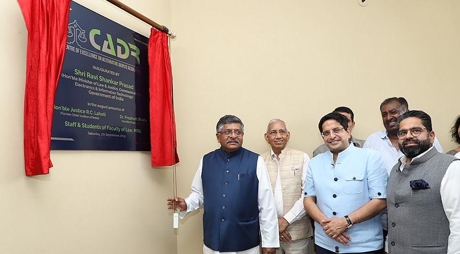 Ravi Shankar Prasad inaugurates Centre of Excellence in ADR at Manav Rachna University