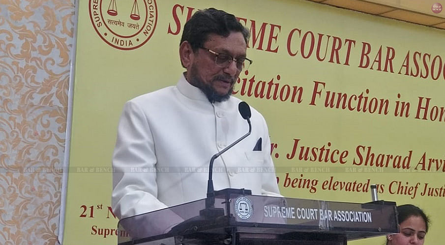 """""""Time is ripe to focus on the mental wellness of legal practitioners"""" CJI SA Bobde during SCBA Felicitation function"""