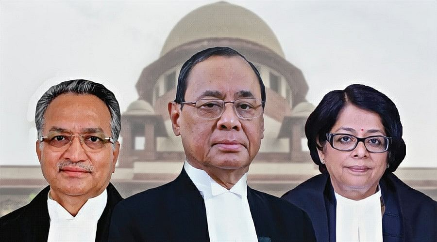 Justices Ranjan Gogoi, AM Khanwilkar and Indu Malhotra delivered the majority judgment