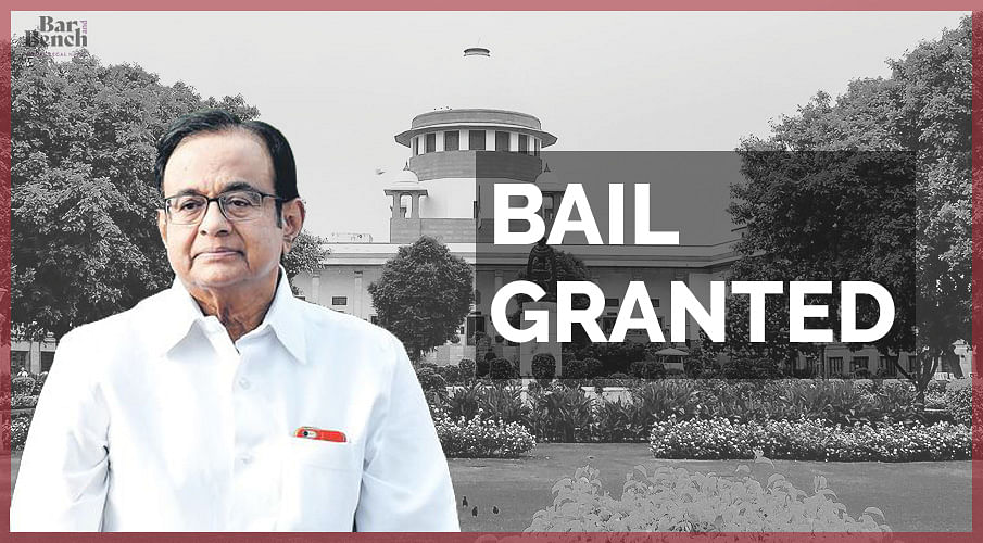 [Breaking] INX Media: Supreme Court grants bail to P Chidambaram in ED case