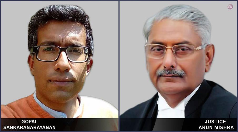 Land Acquisition Cases: Gopal Sankaranarayanan walks out of Justice Arun Mishra's Court after contempt threat