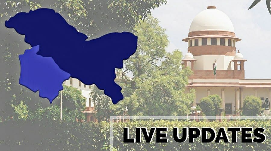 Abrogation of Article 370: Live updates from the Supreme Court [Day 3]
