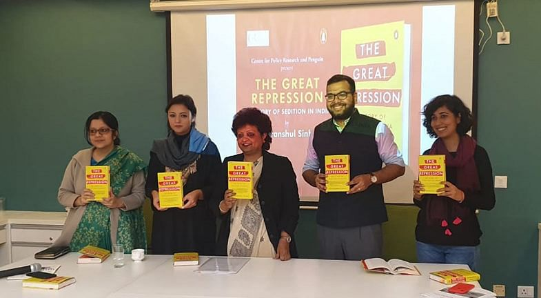 Advocate Chitranshul Sinha at the launch of his book 'The Great Repression: The Story of Sedition in India'