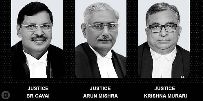 Justices Arun Mishra, BR Gavai, and Krishna Murari