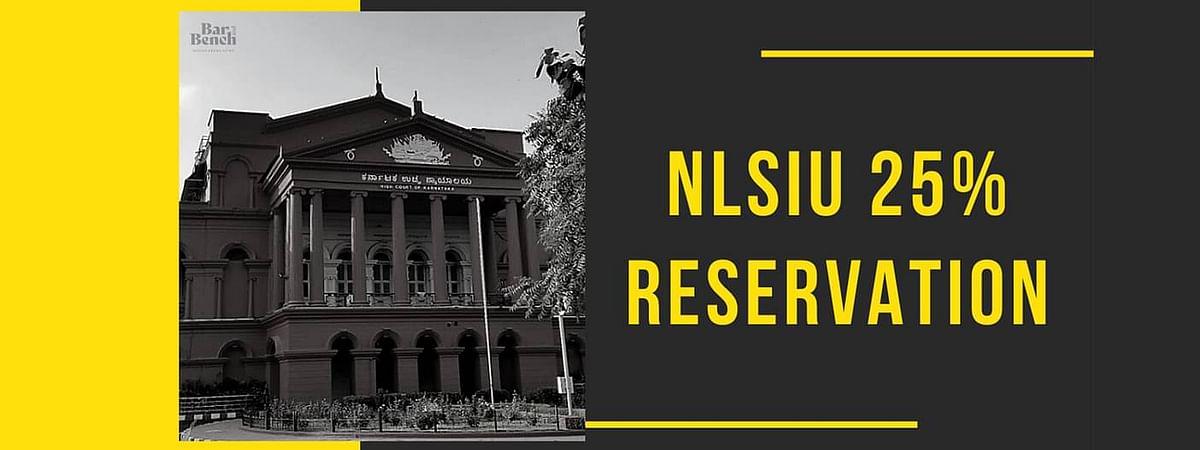 एनएलएसआईयू में 25% अधिवास आरक्षण के लिए चुनौती के आदेश को कर्नाटक उच्च न्यायालय द्वारा सुरक्षित रखा गया