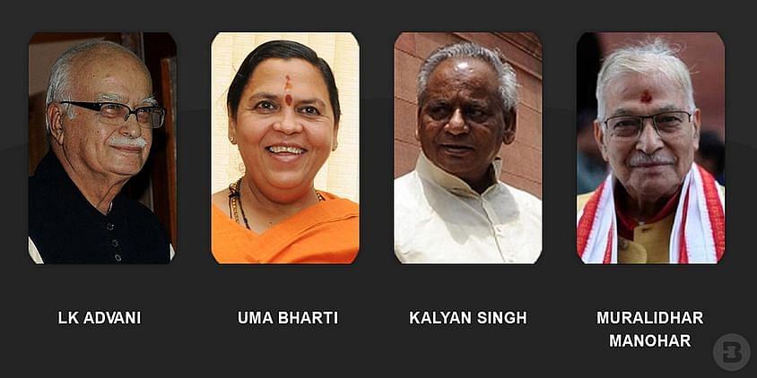 LK Advani, Uma Bharti, Kalyan Singh, Muralidhar Manohar