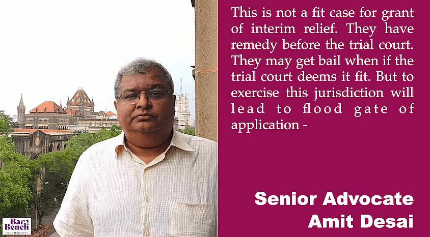 Senior Advocate Amit Desai
