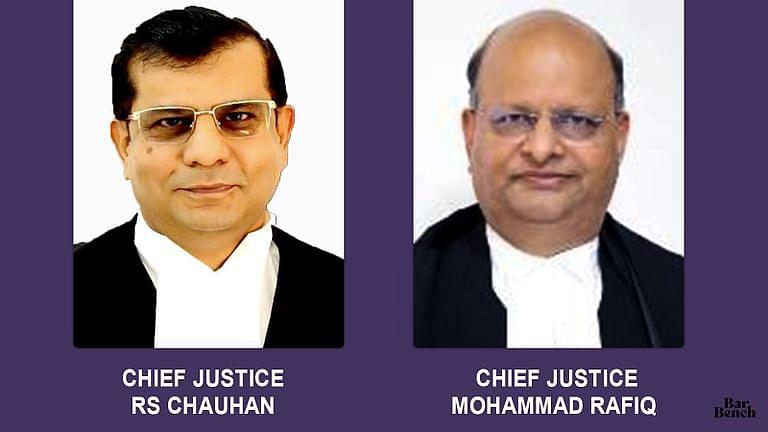 मुख्य न्यायाधीश आरएस चौहान का तेलंगाना से उत्तराखंड HC मे तबादला, मोहम्मद रफीक को मप्र HC का मुख्य न्यायाधीश नियुक्त किया गया