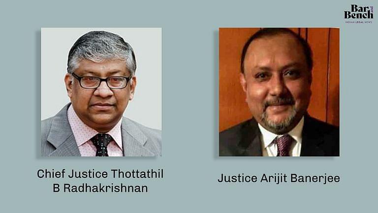 Chief Justice Thottathil B Radhakrishnan and Justice Arijit Banerjee