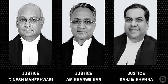 Justices Dinesh Maheshwari, AM khanwilkar and Sanjiv Khanna