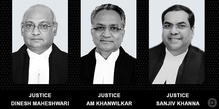Justices Dinesh Maheshwari, AM khanwilkar and Sanjiv Khanna