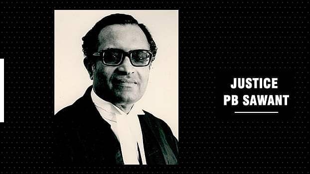 सुप्रीम कोर्ट के पूर्व न्यायाधीश, जस्टिस पीबी सावंत का निधन