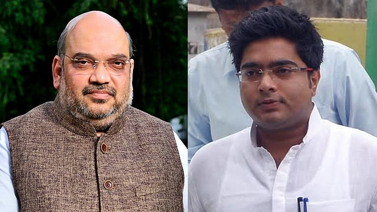 Amit Shah and TMC MP Abhishek Banerjee