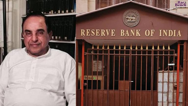 बैंकिंग घोटालो से बैंकिंग प्रणाली मे विश्वास की कमी: RBI अधिकारियो के खिलाफ CBI जांच हेतु सुब्रमण्यम स्वामी ने SC का रुख किया