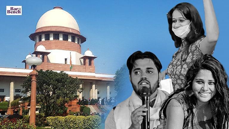 आसिफ इकबाल तन्हा, देवांगना कलिता, नताशा नरवाल को जमानत देने के दिल्ली HC के आदेश के खिलाफ दिल्ली पुलिस ने SC मे अपील दायर की