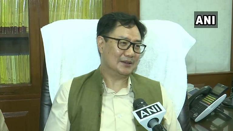 अरुणाचल प्रदेश के सांसद किरेन रिजिजू ने केंद्रीय कानून मंत्री के रूप में कार्यभार संभाला